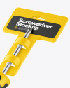 Screwdriver Mockup - Half Side View