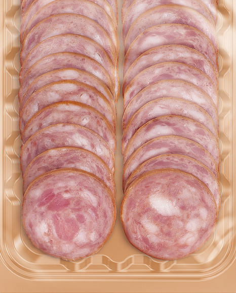Tray With Sausage Mockup