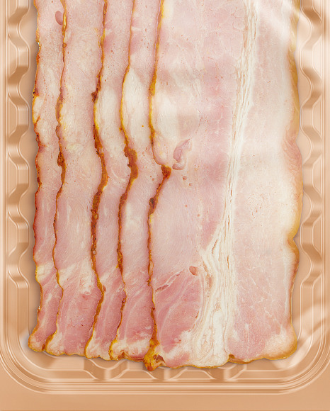 Tray With Bacon Mockup