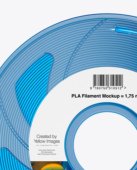 Transparent Filament Spool Mockup