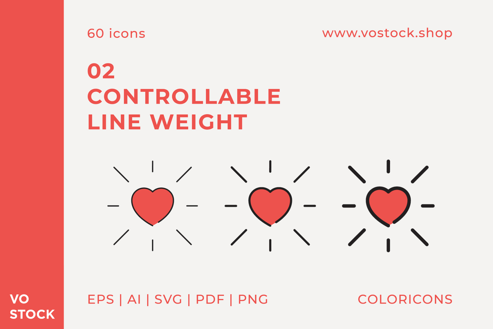 60 Valentines Day Color Icons