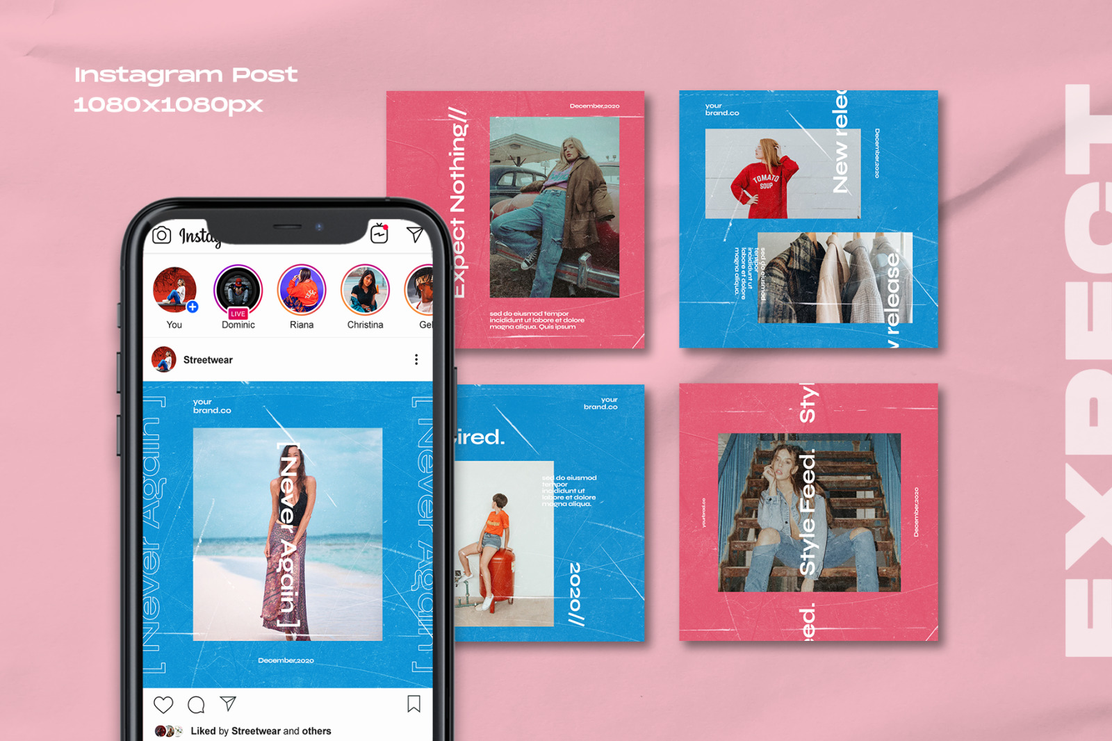 Expect - Instagram Stories & Post Template