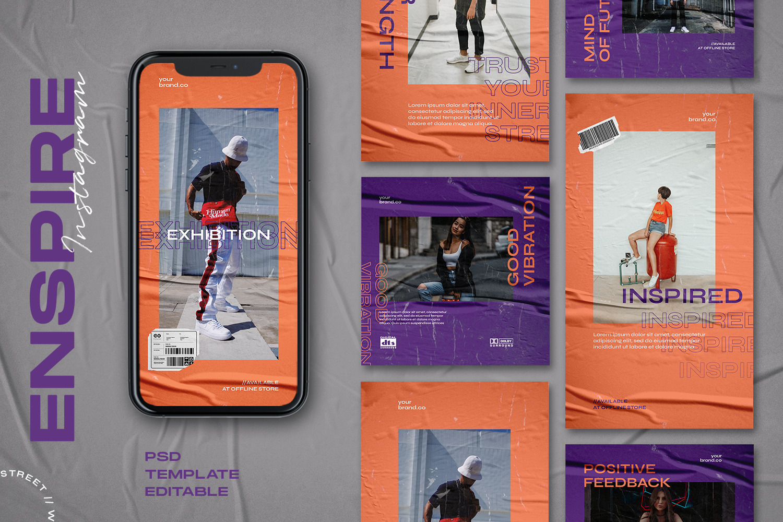 Enspire - Instagram Stories & Post Template