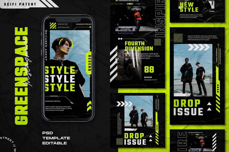 Greenspace - Instagram Stories & Post Template