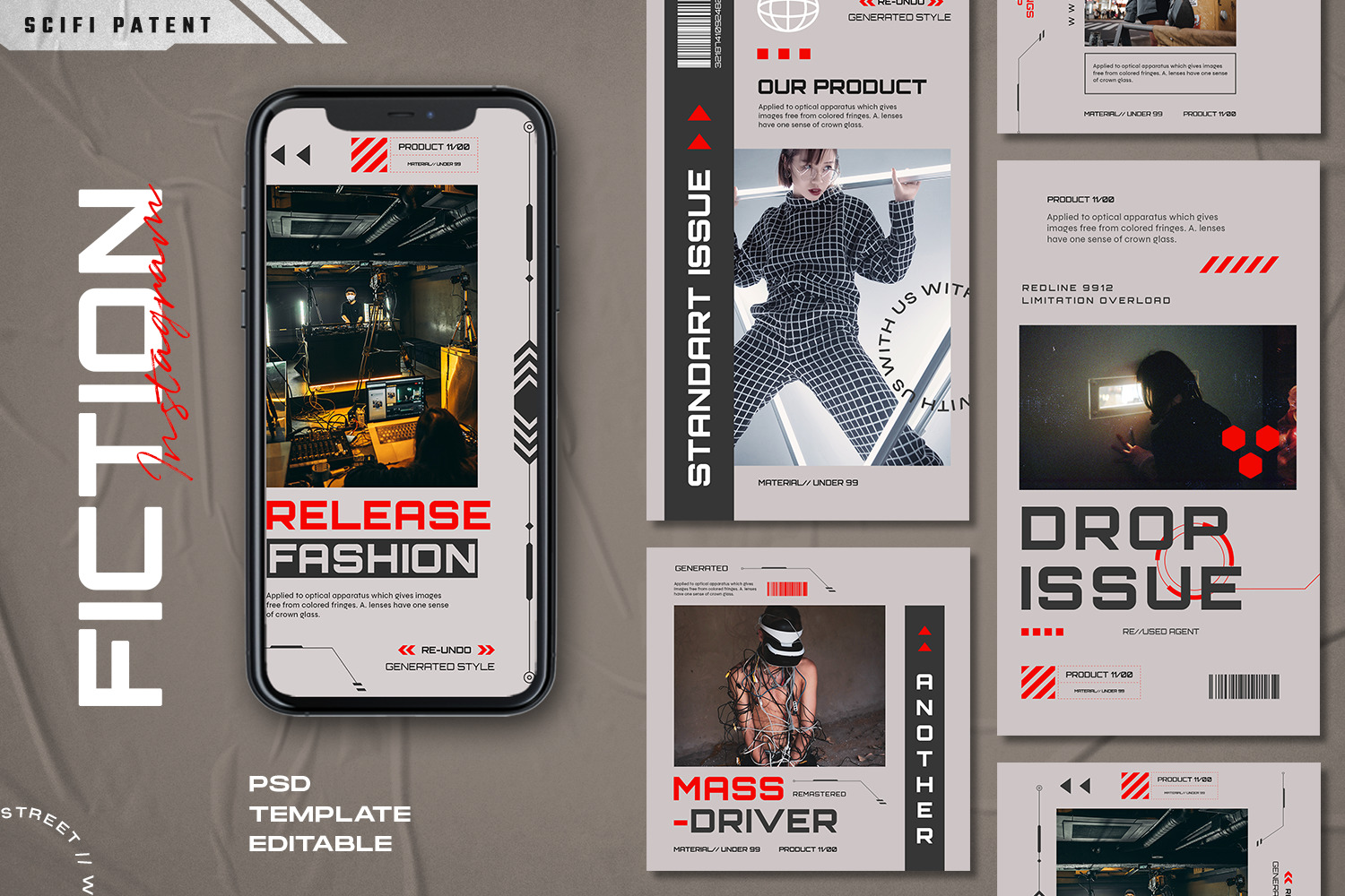 Ficiton - Instagram Stories & Post Template