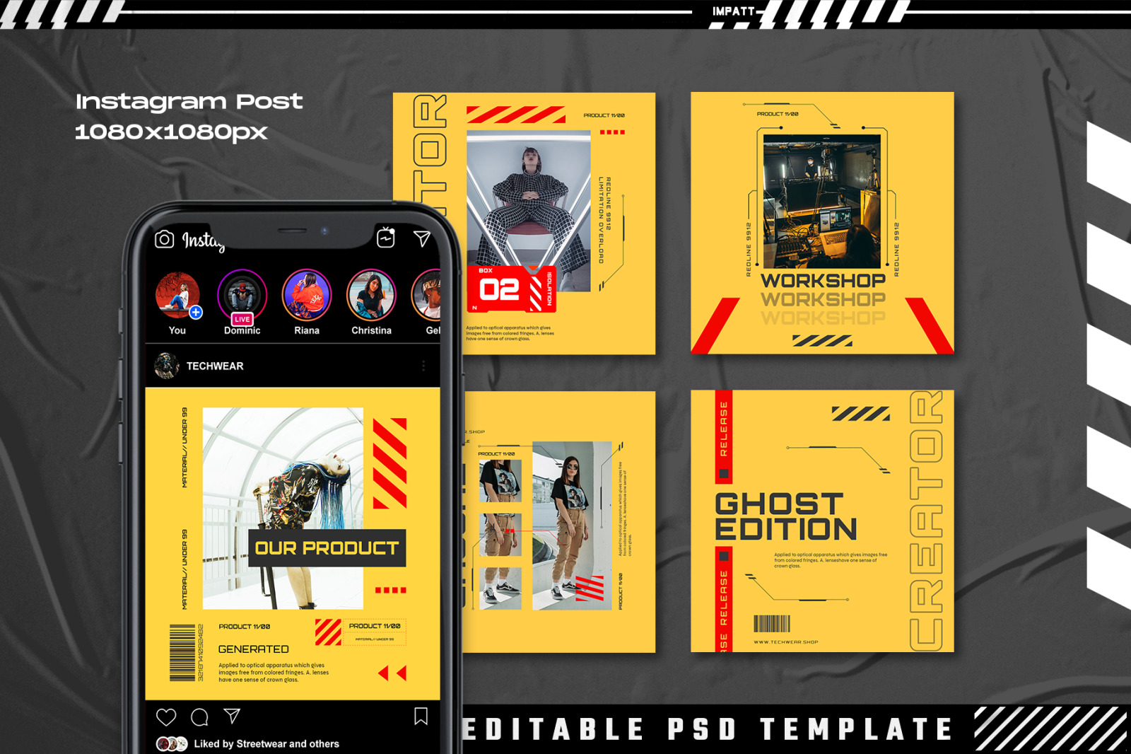 Dusction - Instagram Stories & Post Template