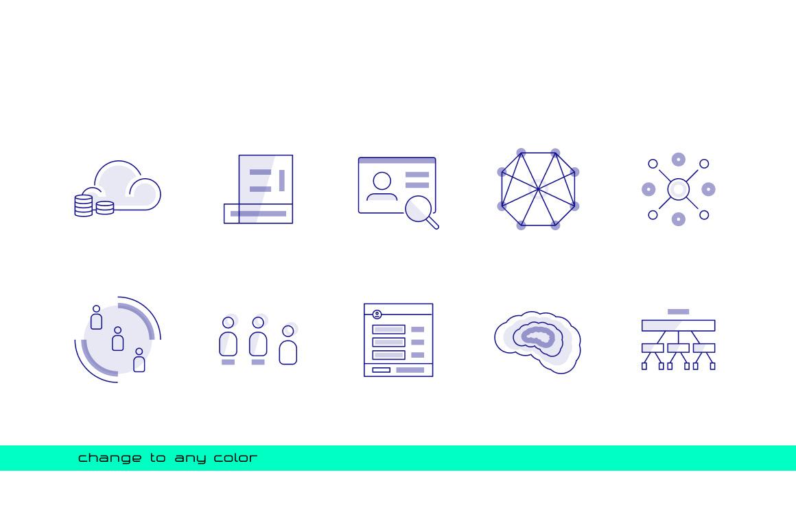 40 Unique Technology Icons