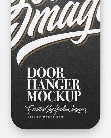 Kraft Door Hanger Mockup