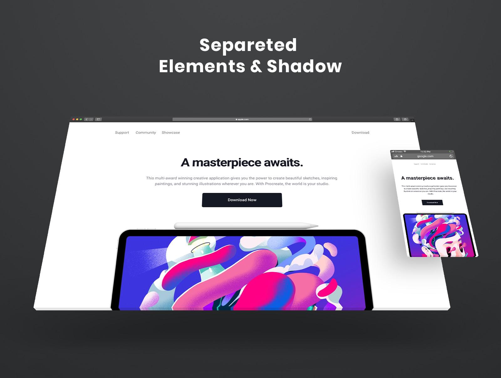 Responsive Website Browser Mockup