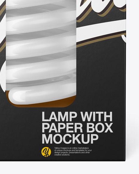 Paper Box with Lamp Mockup