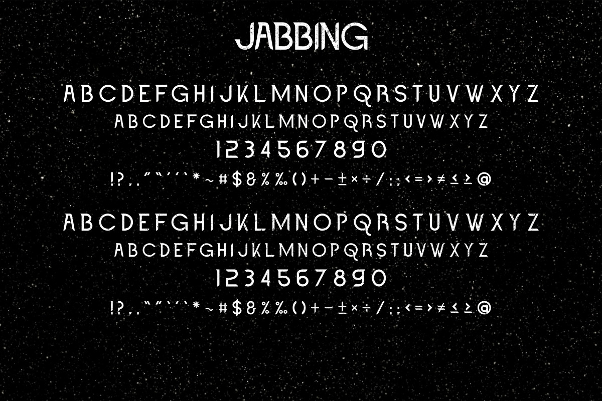 Jabbing Font Duo