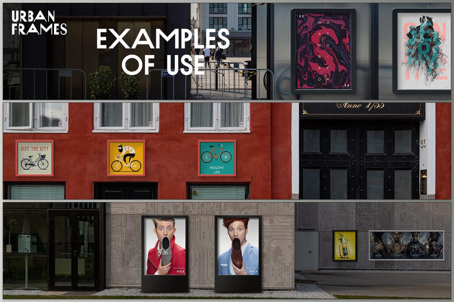 Street Poster Frames - 35 mockups
