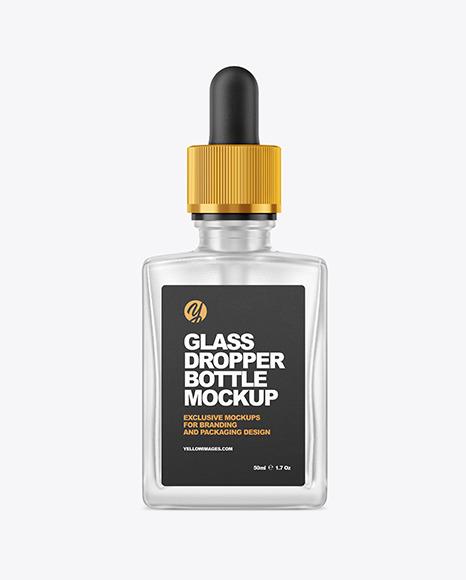 Frosted Dropper Bottle Mockup