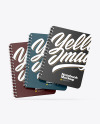 Three Spring Notebooks Mockup