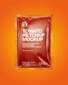 Tomato Ketchup Package Mockup