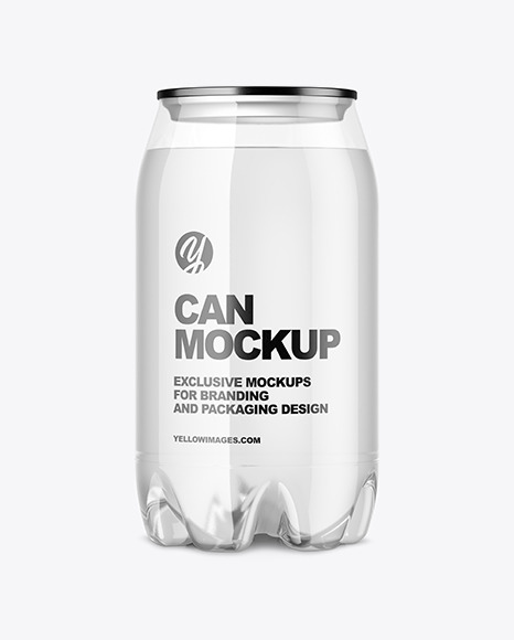 Clear PET Water Can Mockup