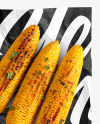 Wrapper With Grilled Corn Cobs Mockup