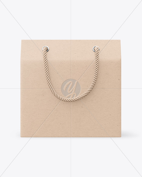 Kraft Paper Box with Handles Mockup