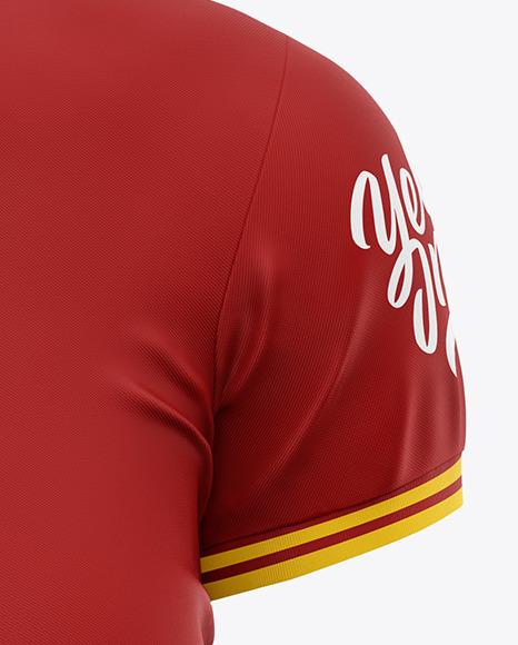Women's Short Sleeve Polo Shirt Mockup