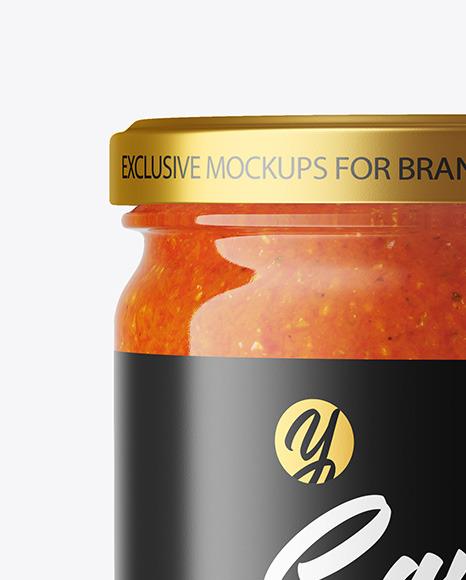 Chili Sauce Jar Mockup