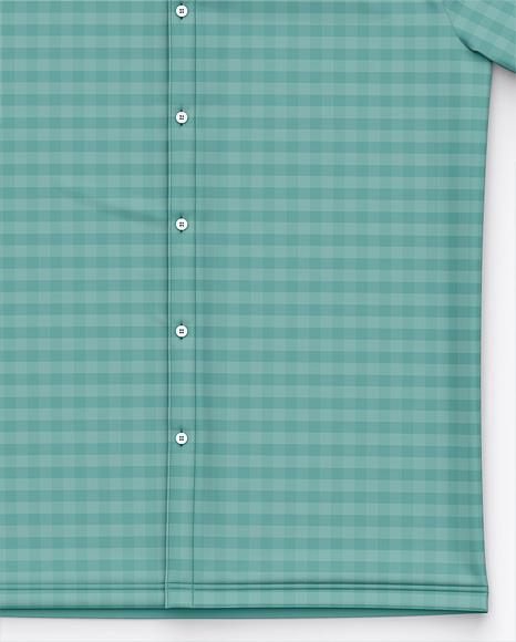 Short Sleeve Button Down Dress Shirt - Front Top View