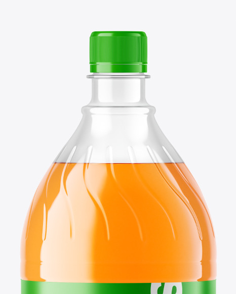 Peach Soft Drink Bottle Mockup