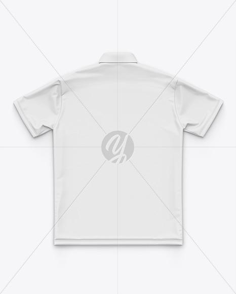 Short Sleeve Button Down Dress Shirt - Back Top View