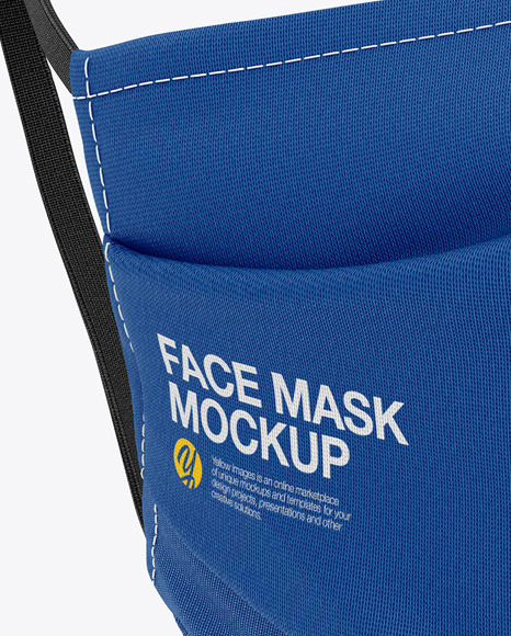 Face Mack Mockup - Front Side View