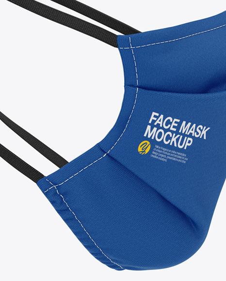 Face Mack Mockup - Side View