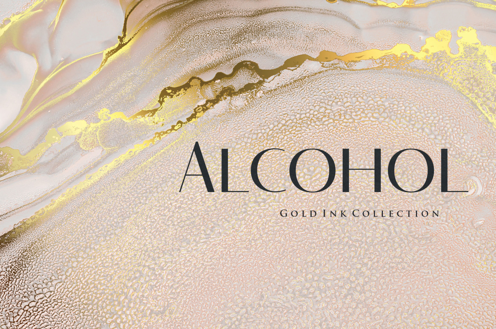 Gold Alcohol Ink Background