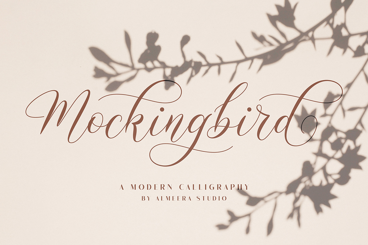 Mockingbird | Modern Calligraphy