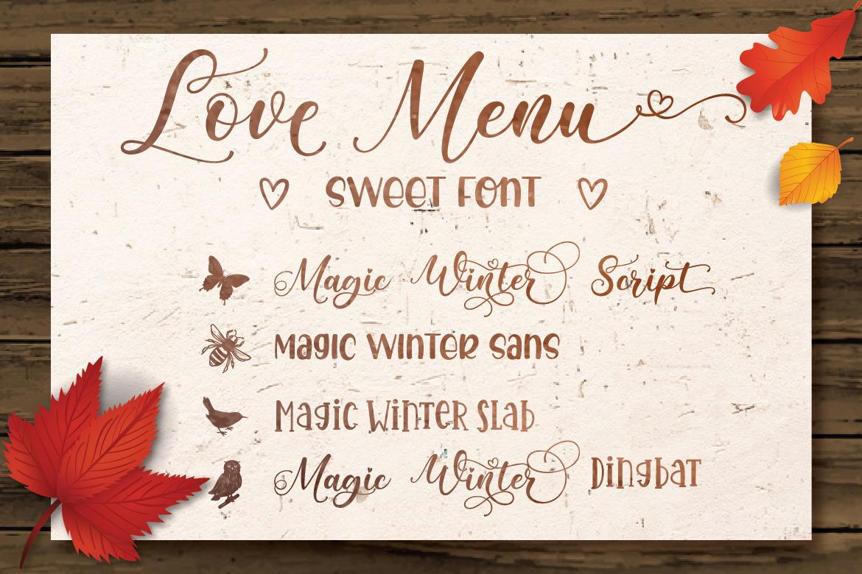 Magic Winter Font Trio & Extras