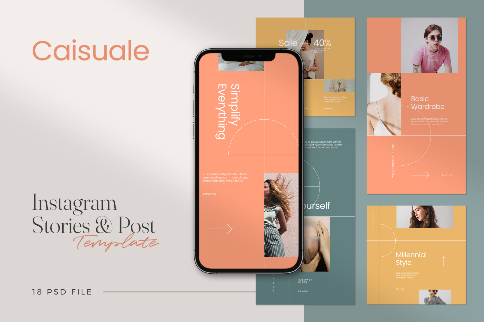 Caisuale - Minimalist Instagram Stories & Post