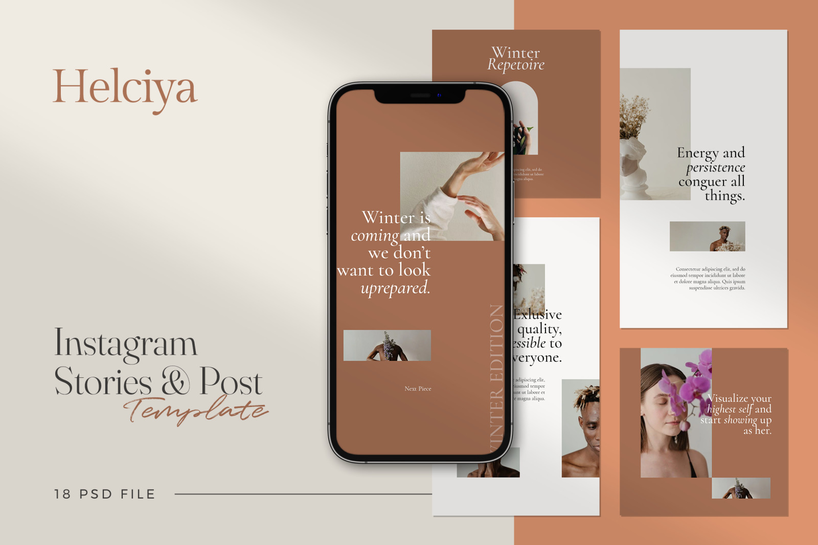 Helciya - Minimalist Instagram Stories & Post