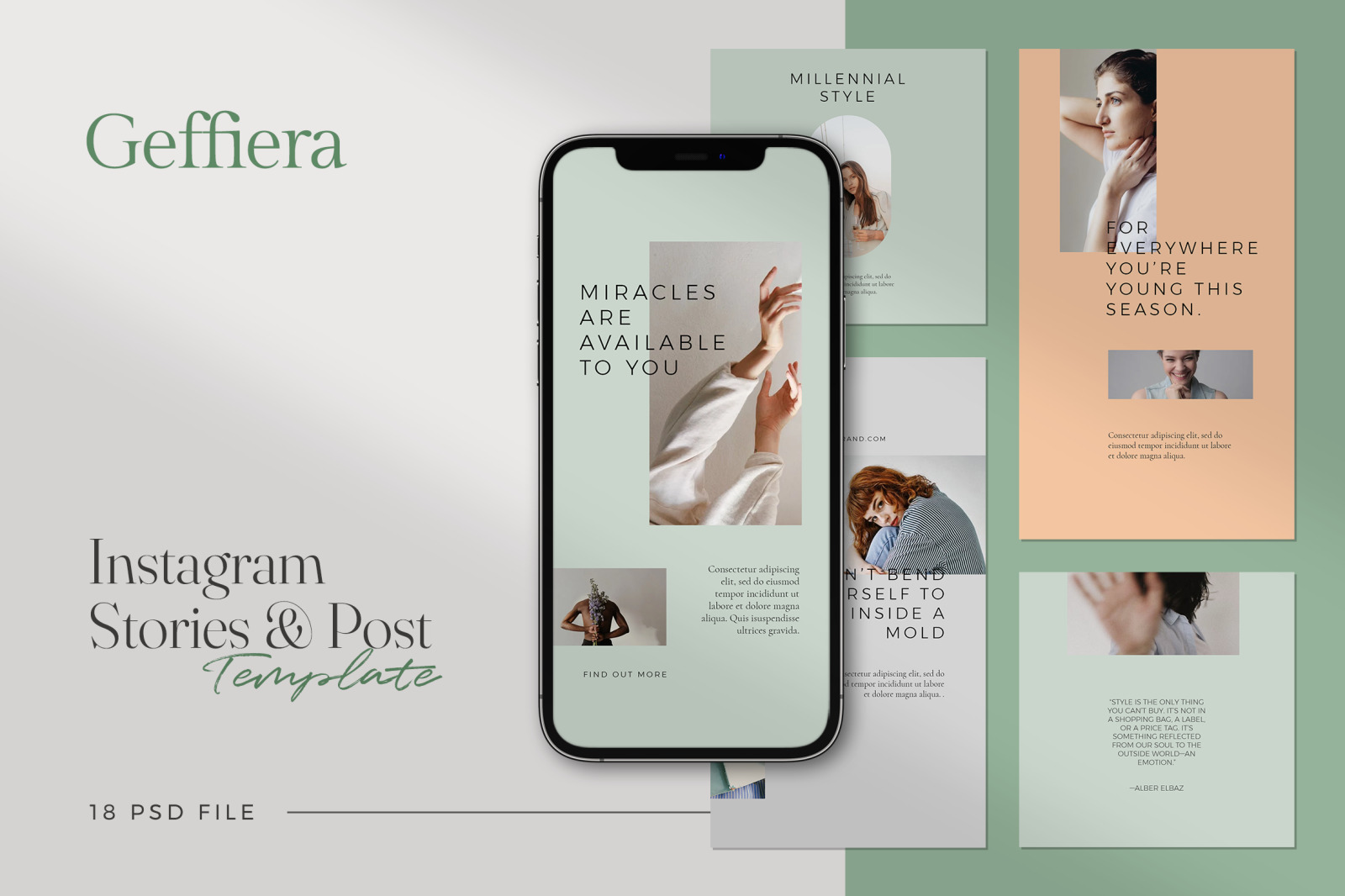 Geffiera - Minimalist Instagram Stories & Post