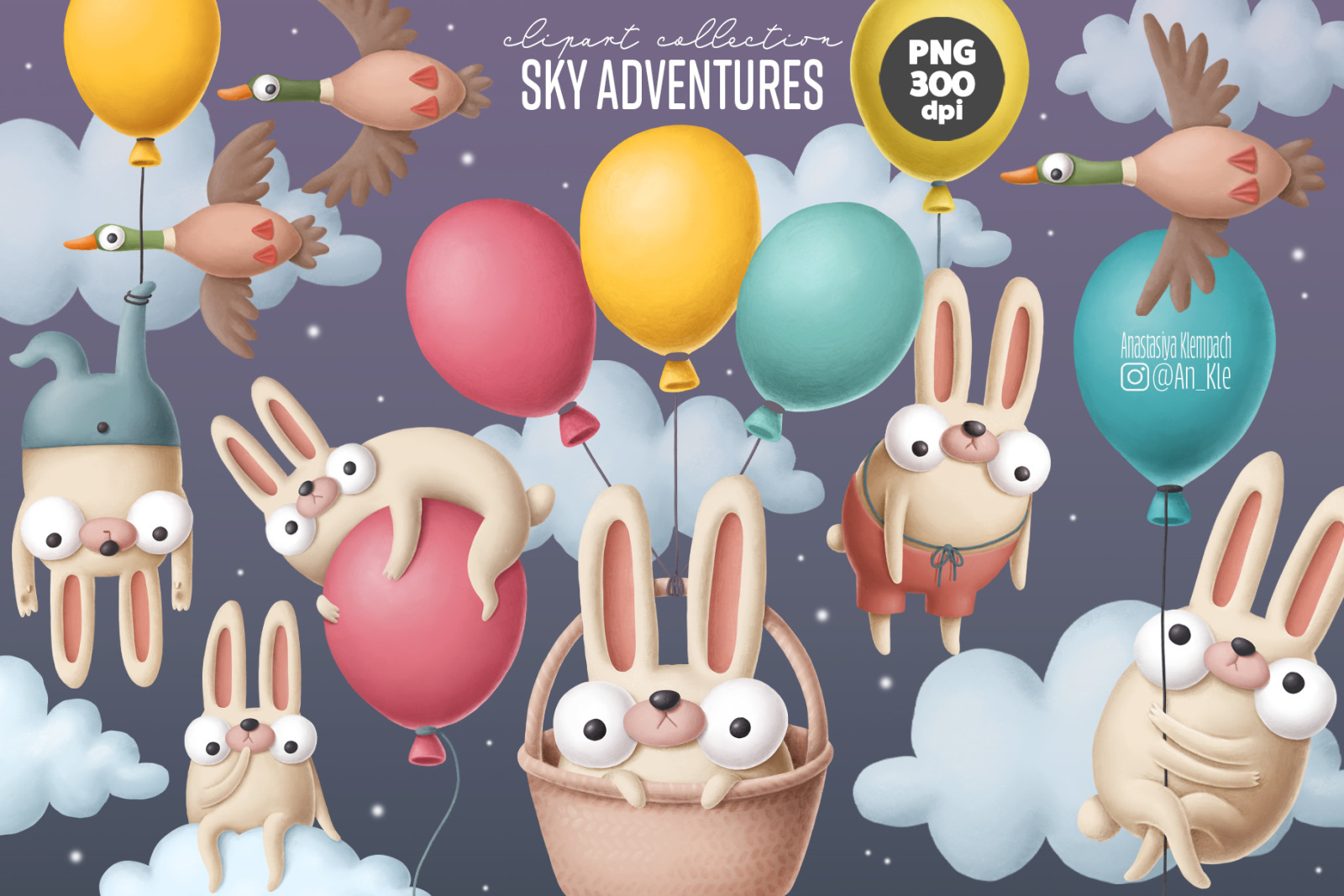 Bunnies and balloons
