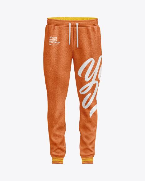 Men's Melange Sport Pants Mockup