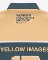 Women's Polo Shirt  - Back Top View
