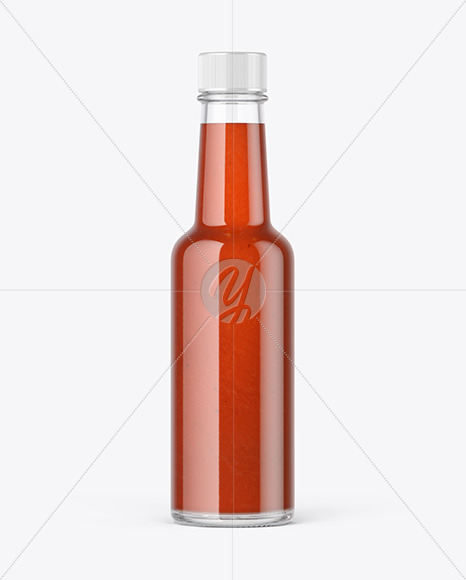 Bottle with Tomato Sauce Mockup