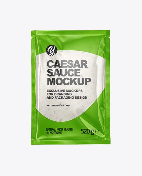 Caesar Sauce Package Mockup