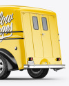 Delivery Truck Mockup - Half Side View (Back)