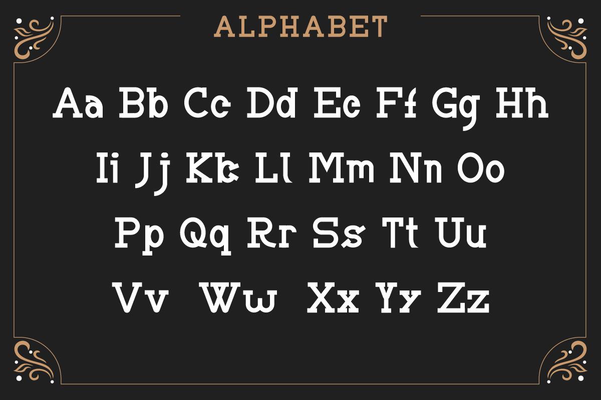 BRIAN WORTH - Vintage Font