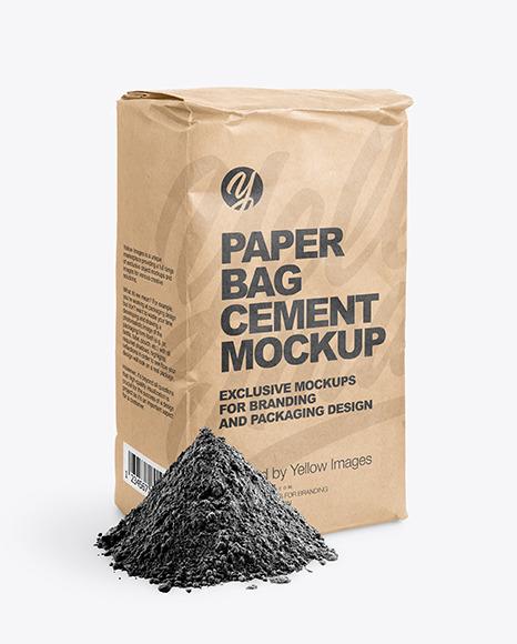 Kraft Paper Cement Bag Mockup