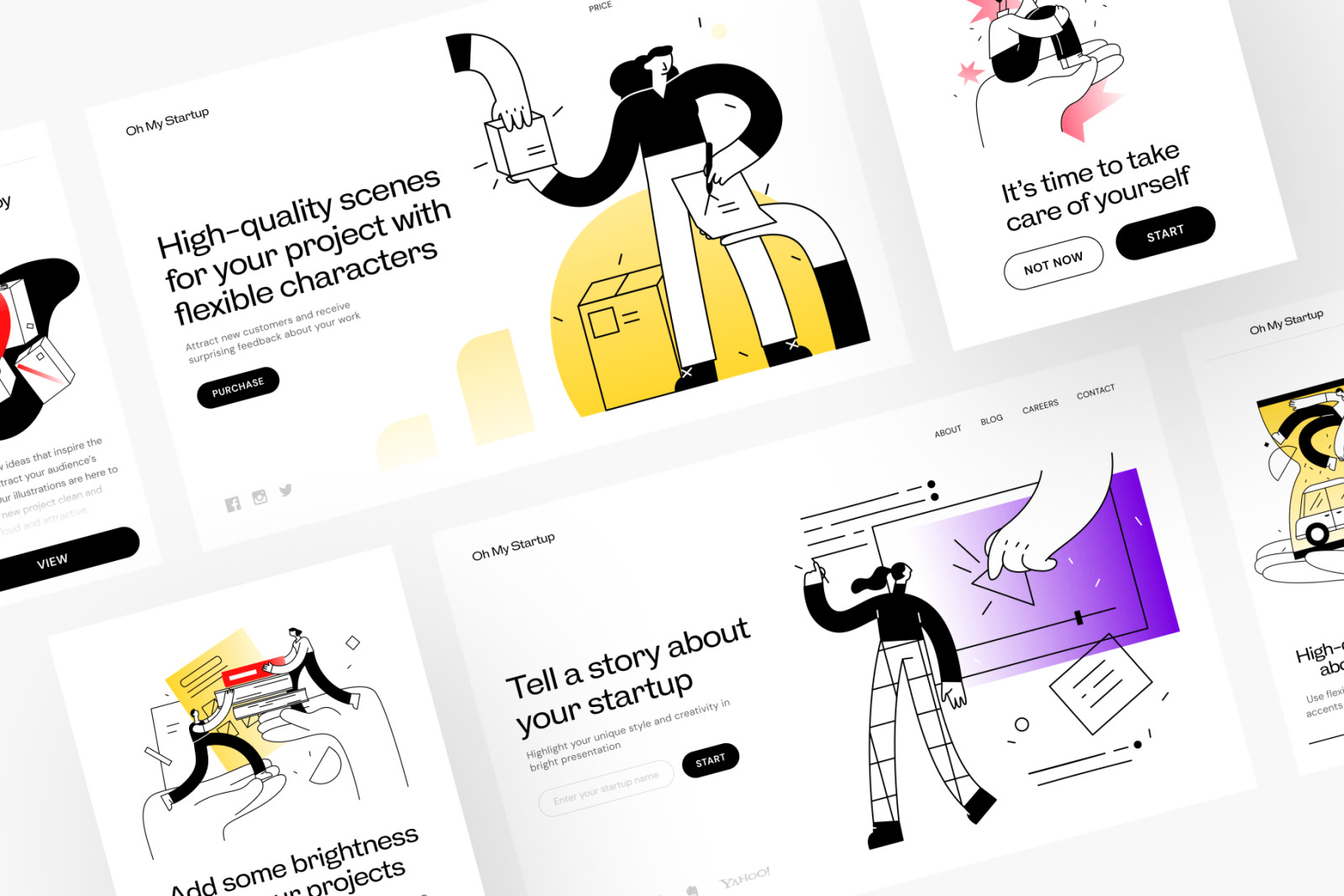 Oh My Startup Illustrations