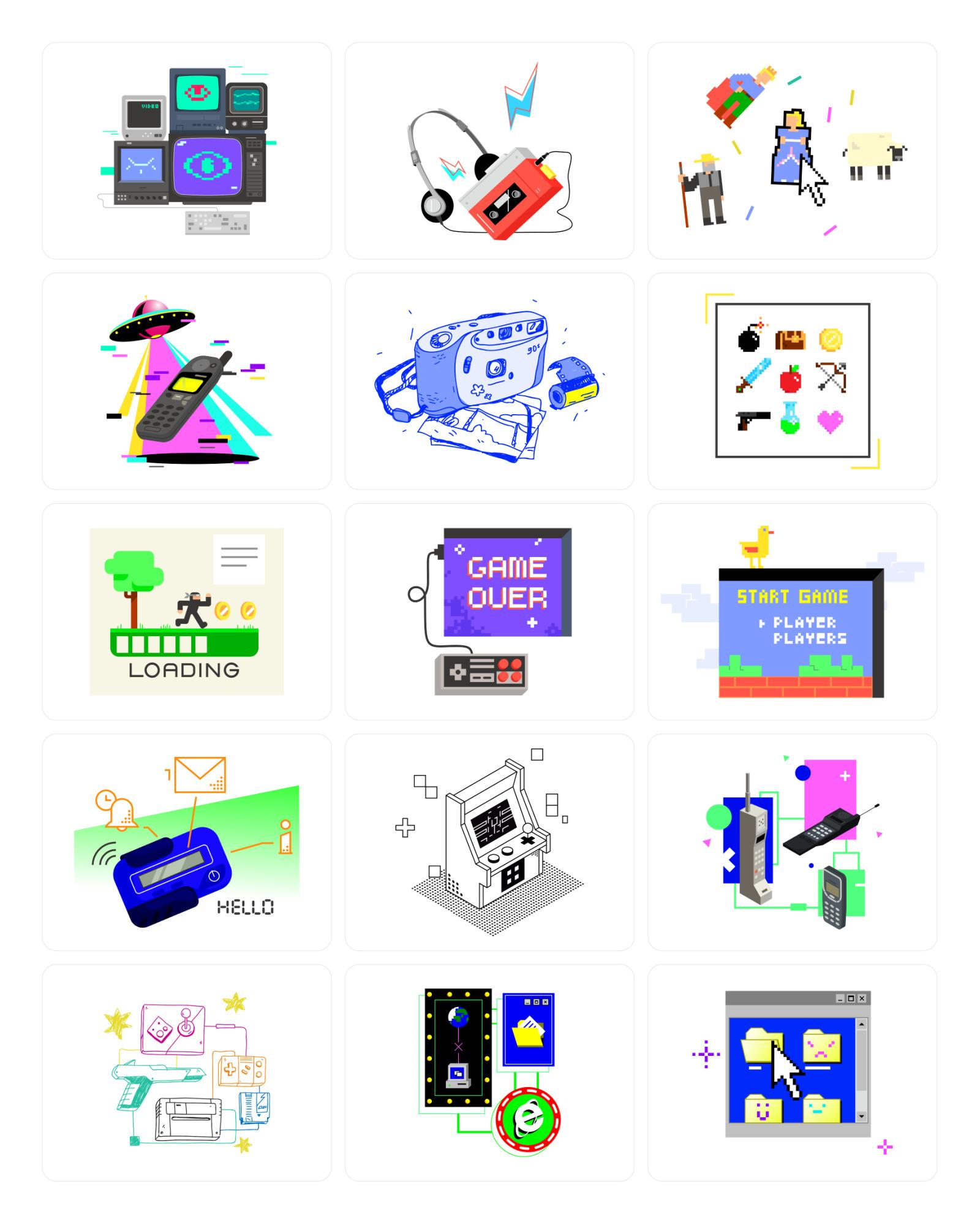90's Illustrations