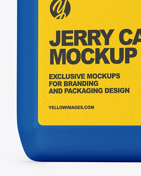 Plastic Jerrycan Mockup