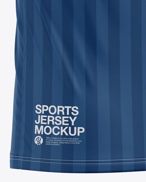Men's Sports Jersey Mockup - Back Half Side View - Football Jersey Soccer T-shirt