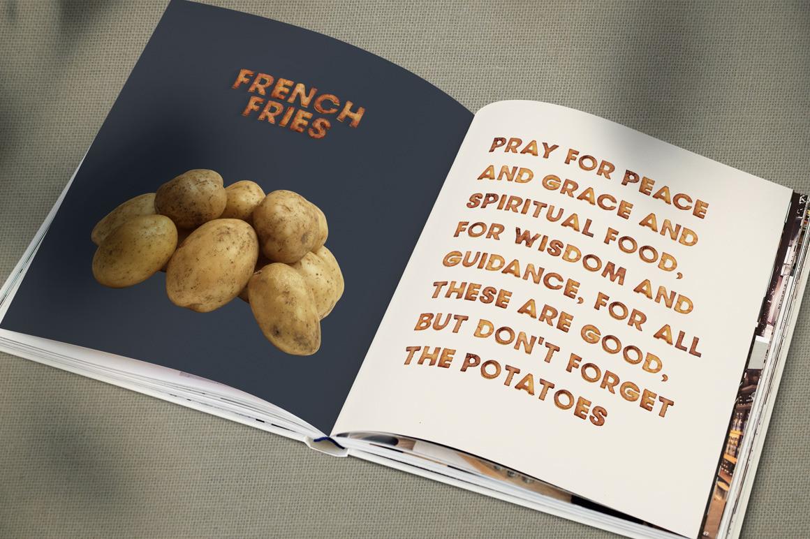 Fried Potatoes Font