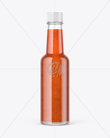 Bottle with Chilli Sauce Mockup