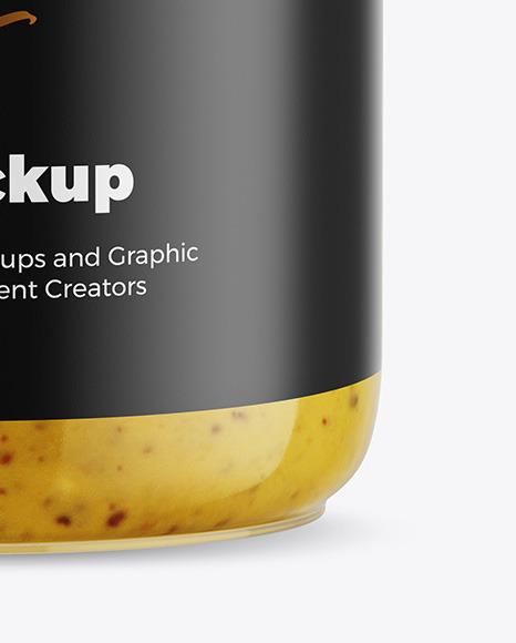 Mustard Sauce Jar Mockup